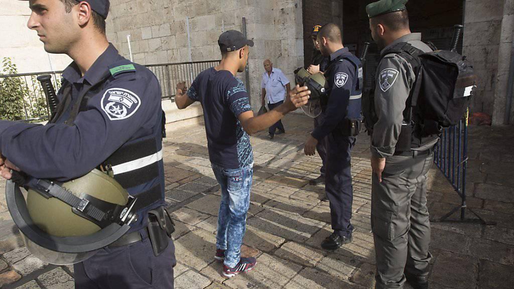 """Israels Polizei erhält im Kampf gegen den """"Terrorismus"""" mehr Vollmachten."""