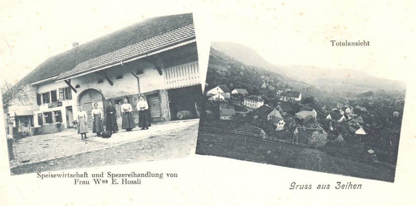 Eine Postkarte von 1930 zeigt die um das Jahr 1870 erbaute Liegenschaft.