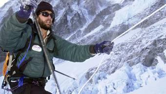 Im Jahr 2001 bestieg der US-Alpinist Erik Weihenmayer als erster Blinder den Mount Everest. (Archivbild)