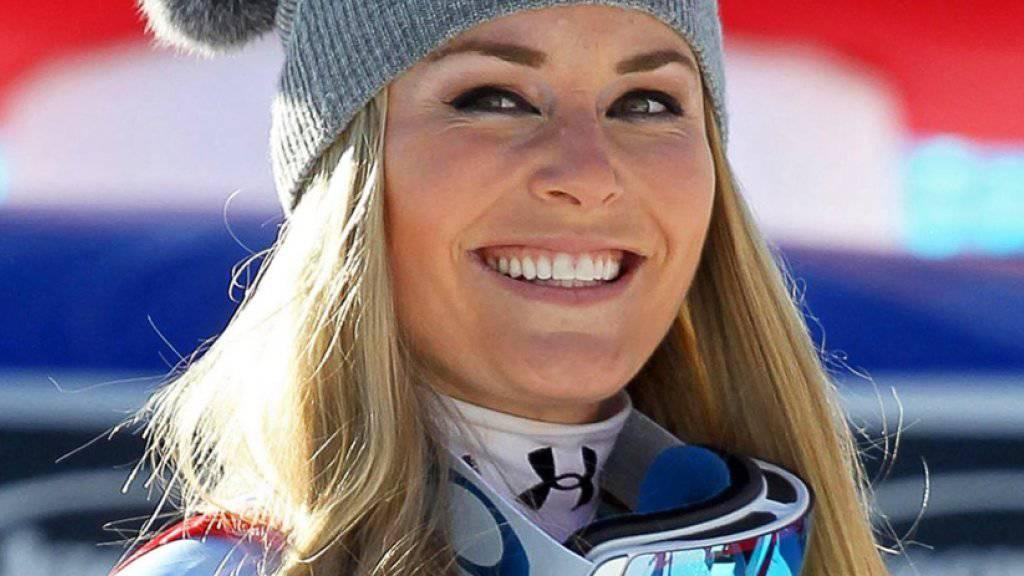 Lindsey Vonn hat guten Grund zum Strahlen: Die Amerikanerin gewinnt in Cortina nach der Abfahrt auch den Super-G