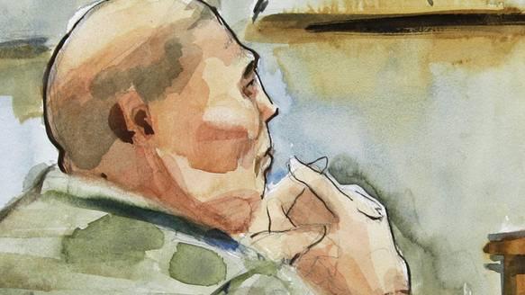 Robert Bales bei der Anhörung am Dienstag in Seattle.