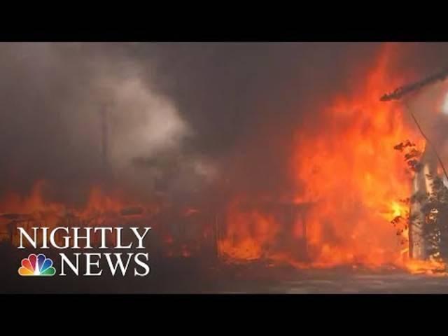 So berichtet der US-amerikanische Nachrichtensender NBC über die Waldbrände in Kalifornien