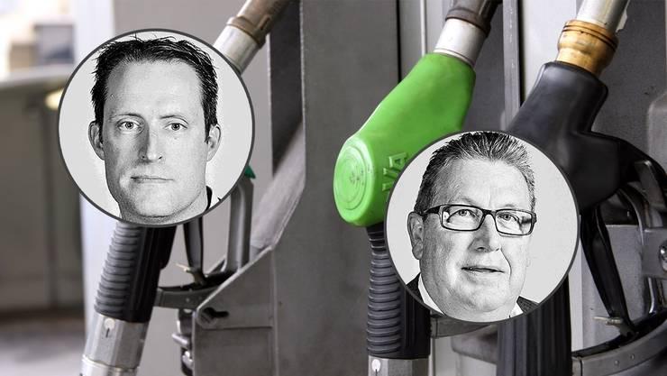 Diesel oder Benziner? Zwei AZ-Journalisten Marcel Kuchta (links) und Toni Widmer (rechts) verraten ihre Vorlieben.