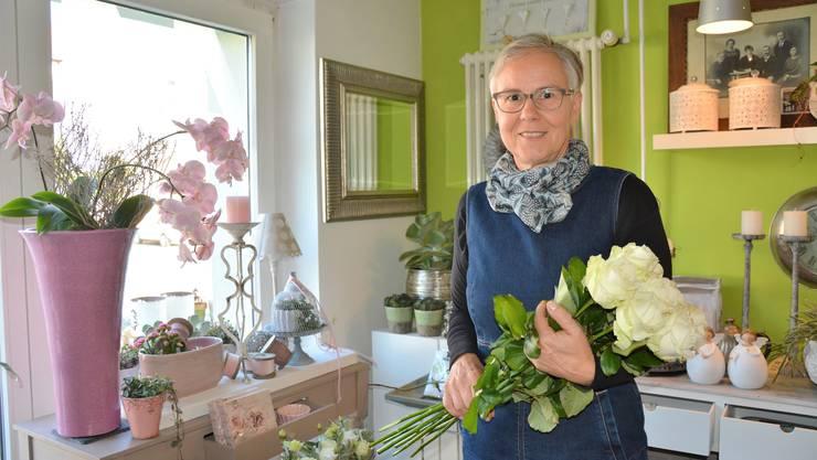 In ihrem Blumenatelier in Kappel geht Gabriella Kaspar nebst ihrer Anstellung im bernischen Riggisberg ihrem Traumberuf, der Floristik, nach.