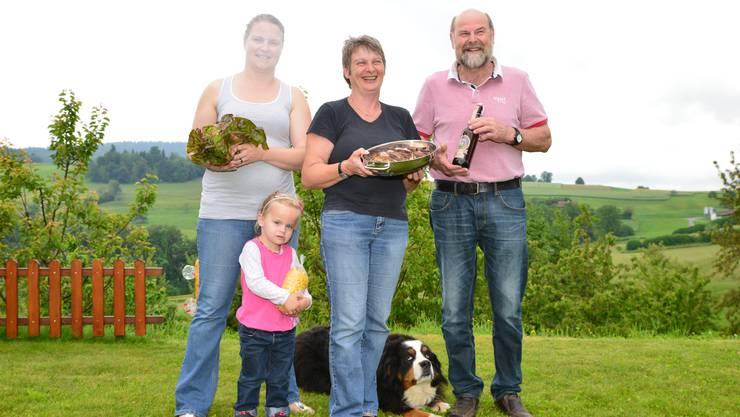Die Familie Lüthi achtet sehr auf lokale Lebensmittel.