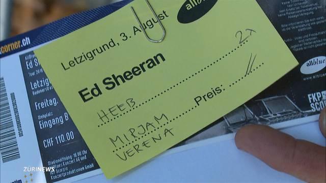 Ärger wegen personalisierten Billets beim Ed-Sheeran-Konzert