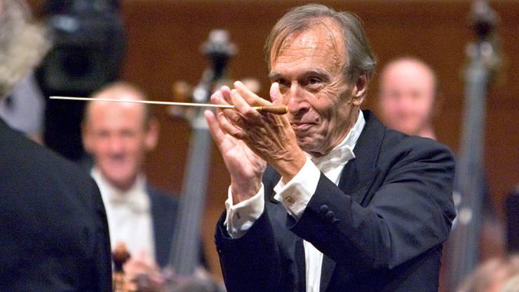 Klarheit in der Gestik, kaum Worte in den Proben: Claudio Abbado (26.6.1933 bis 20.1.2014).Getan Bally/Keystone