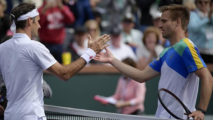 Peter Gojowczyk musste Roger Federer bislang zweimal zum Sieg gratulieren