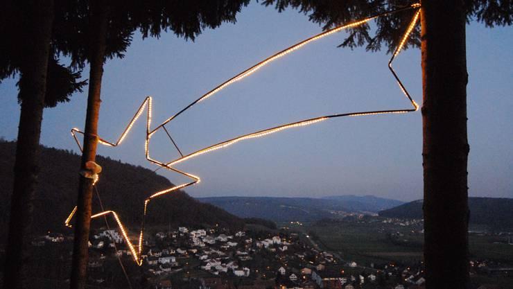Der Remiger Stern ist jeweilen in der Adventszeit zu sehen.
