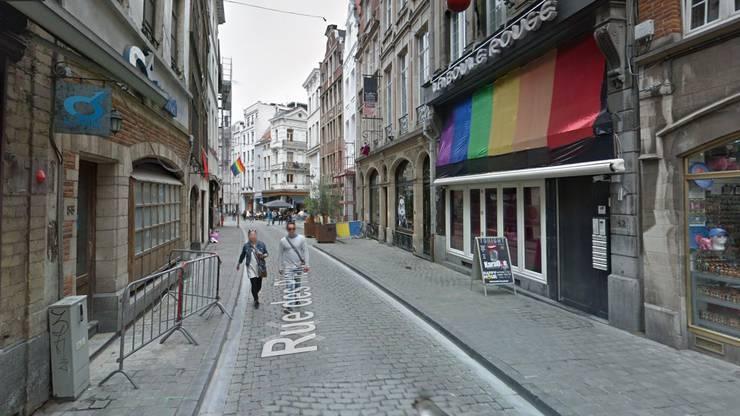 Beliebtes Ausgangsquartier rund um die Rue des Pierres im Brüsseler Stadtzentrum.