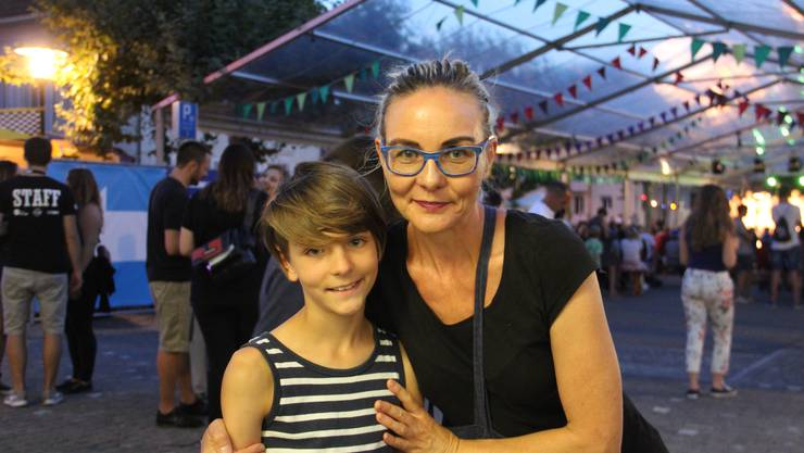 Daniela Winterhofen, 49, und Sohn Lovis, 10, aus Brugg