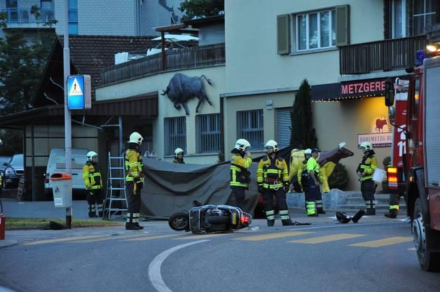 Der Rollerfahrer starb noch auf der Unfallstelle