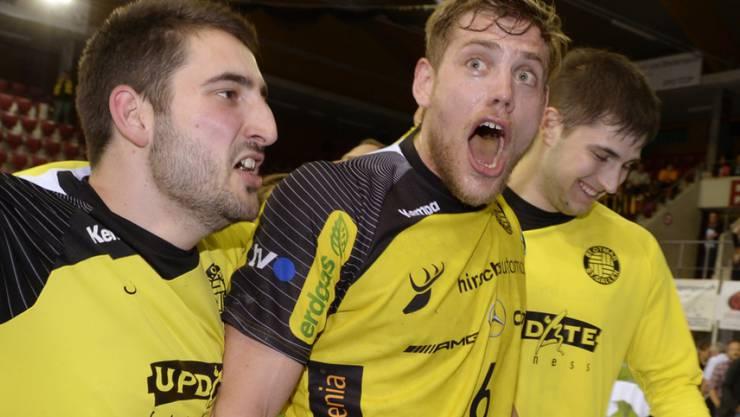 St. Otmar St. Gallen freut sich über das Weiterkommen im Europacup