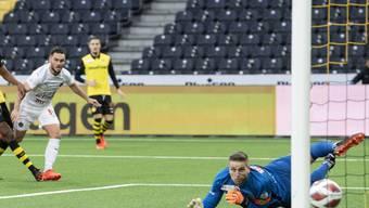 Banger Blick: David von Ballmoos muss mit den Young Boys im Wankdorf erstmals seit über zwei Jahren als Verlierer vom Platz