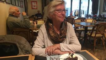 Trudi Oehler isst zweimal in der Woche im Coop-Restaurant, oft vor oder nach dem Einkaufen.