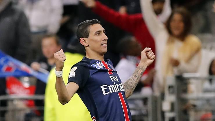 Angel Di Maria entschied den Ligacup-Final zugunsten von Paris Saint-Germain