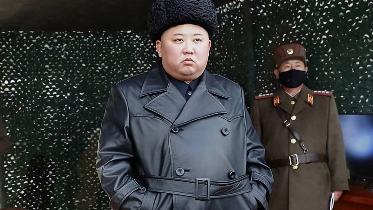 Nordkorea hat unter der Führung von Diktator Kim Jong Un erneut mindestens zwei Projektile abgeschossen. (Archivbild)