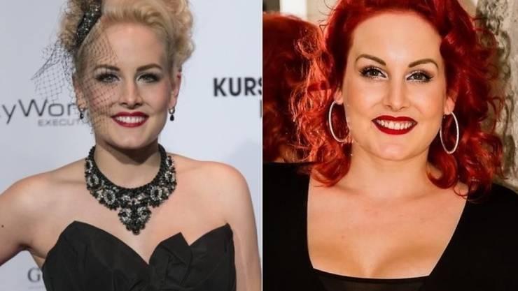 Das Vintage-Model Zoe Scarlett ist jetzt nicht mehr blond, sondern wie ihr Name verspricht scharlachrot. (Keystone/Twitter)
