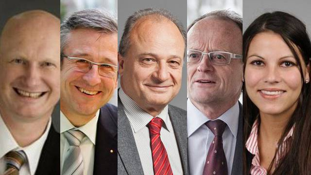 TOP 5: Roland Scheck, Andreas Türler, Filippo Leutenegger, Gerold Lauber und Nina Fehr