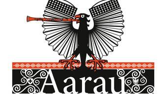 Das Logo des Volksmusikfests in Aarau vom 10. bis 13. September 2015.