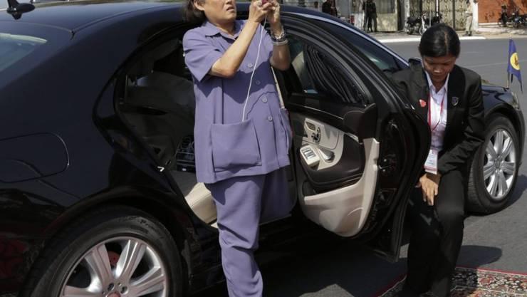 Sie fotografierte zwar das Luxus-WC, benützen wollte es Prinzessin Maha Chakri Sirindhorn jedoch nicht
