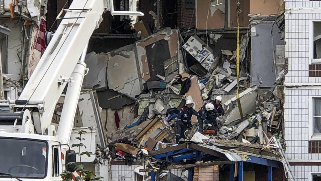 Nahe Moskau hat es eine Gasexplosion in einem neunstöckigen Wohnhaus, mit Toten und Verletzten, gegeben.