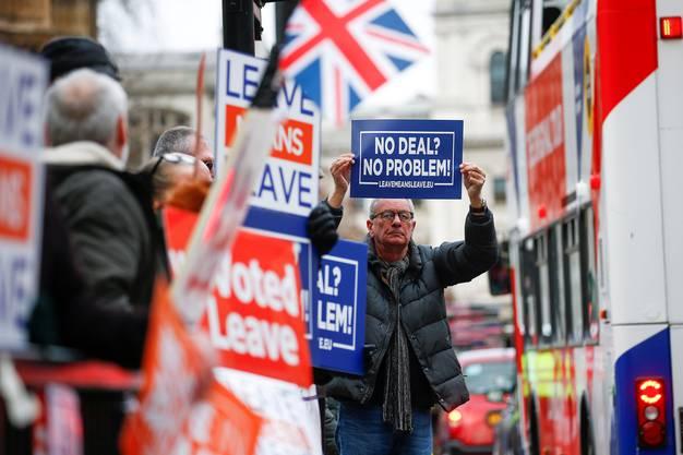 Ein Brexiteer in London.
