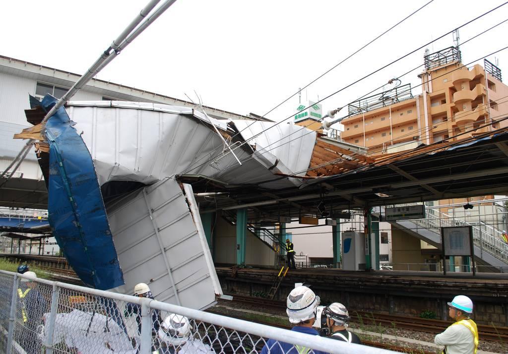 Taifun «Faxai» wütet in Tokio (© Keystone)