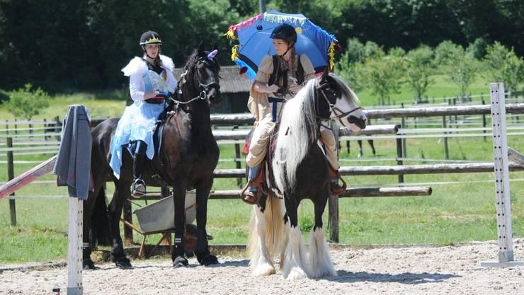 Die Reiterinnen und Reiter überraschten mit amüsanten Verkleidungen.