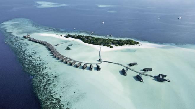 «Cocoa Island» ist eine 350 auf 85 Meter kleine Insel im Südmale-Atoll, deren natürliche Schönheit in den Bann zieht.