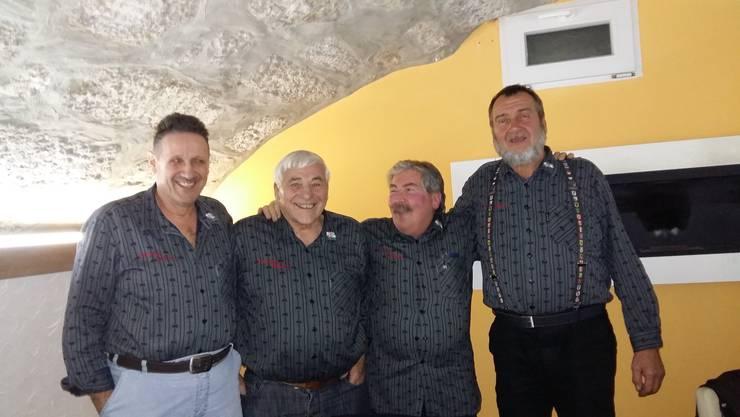 von links: Jonas Schwarzenbach, Fritz Mast, Peter Moretta, Kurt Menth