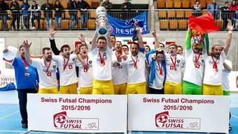 AFM Futsal Maniacs aus Wettingen werden Schweizer Meister.