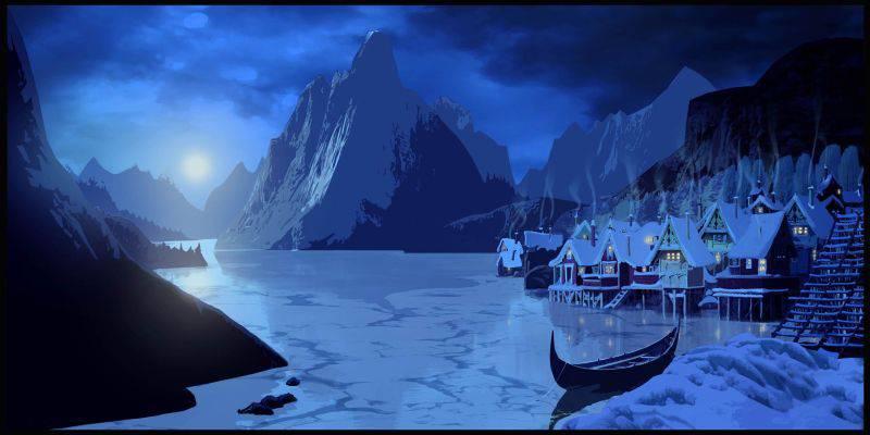 Die Stadt Arendelle im Film «Frozen»