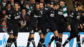 Turiner Jubel über den Führungstreffer im Celtic Park