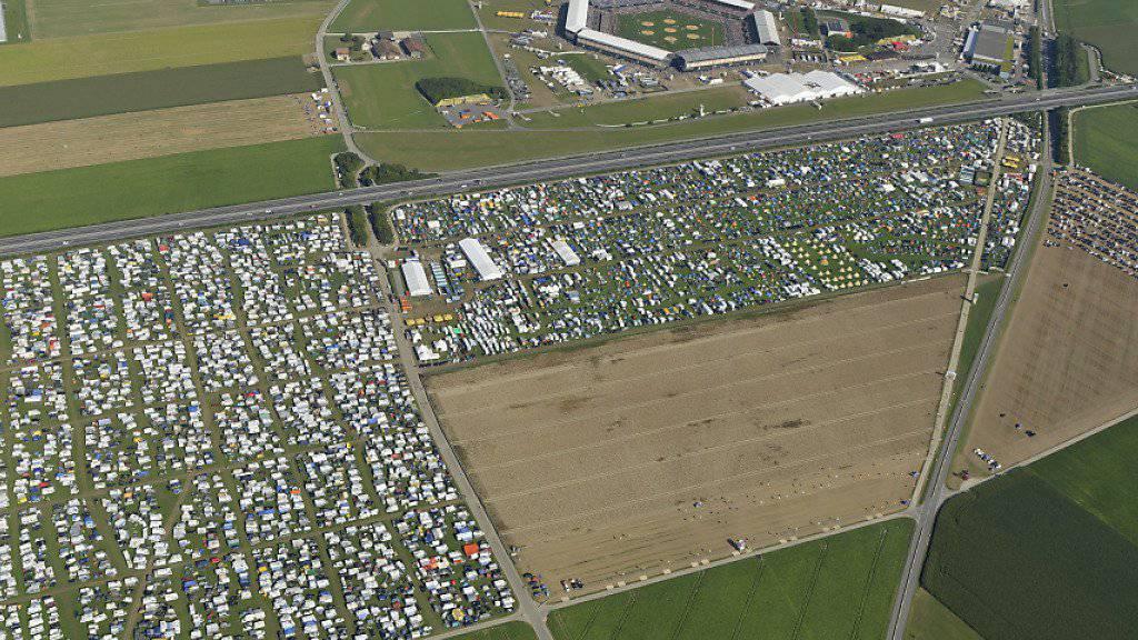 Das Festgelände des Schwing- und Älplerfests in Estavayer im August 2016