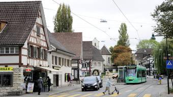 Der Allschwiler Dorfplatz.