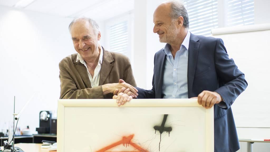 Schräges Treffen zwischen «Sprayer von Zürich» und Filippo Leutenegger
