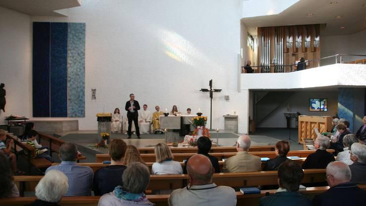 Beim Grusswort im Festgottesdienst