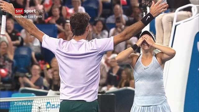 Sieg für Federer und Bencic