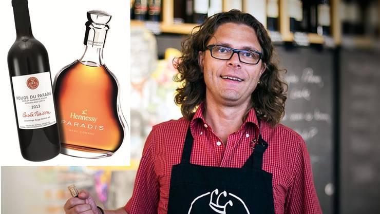 Verwechslungsgefahr? Beide tragen den Namen «Paradis». Cortis Wein (l.) kostet 16.50 Franken, der Cognac von Hennessy rund 700 Franken.