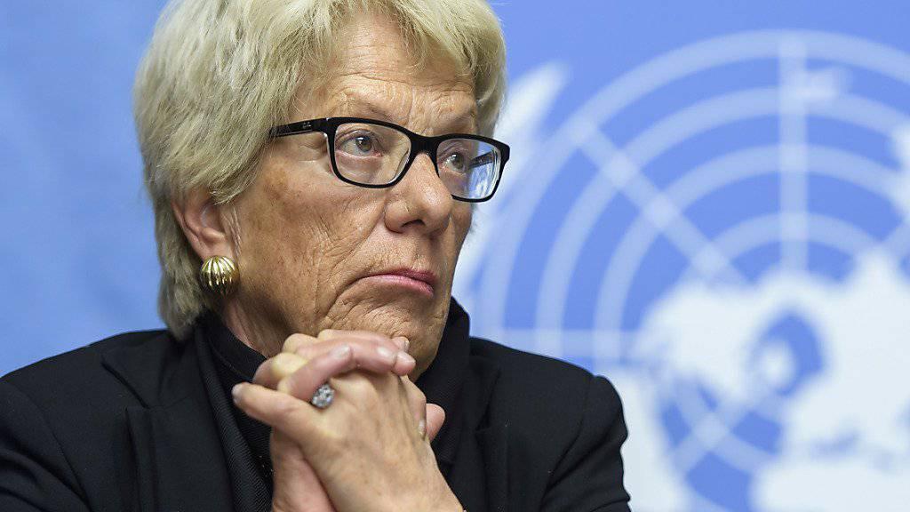 «Die Augen dieses Buben werde ich nie vergessen»: Die ehemalige UNO-Chefanklägerin Carla del Ponte. (Archivbild)