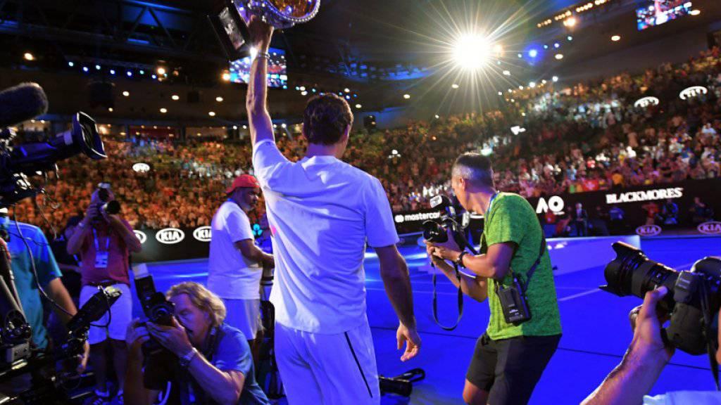 Tritt 2019 am Australian Open als Titelverteidiger an: Roger Federer holte dieses Jahr in Melbourne seinen 20. Grand-Slam-Titel