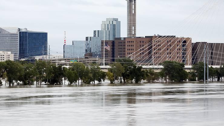 """Der Hurrikan """"Patricia"""" führte auch in Dallas, Texas, zu Überschwemmungen."""