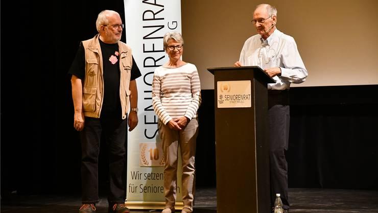 Drei Gründungsmitglieder (v. l.): Ernst Berger, Christine Wehrli, René Kunz.