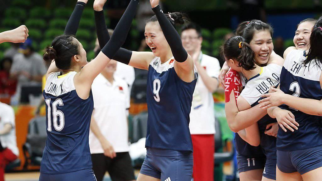 Chinesischer Jubel im Halbfinal gegen die Niederlande