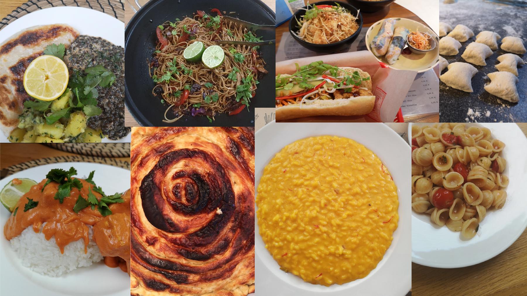 Eine Woche ohne Dal Makhani, Risotto alla Milanese oder Tofu Banh Mi