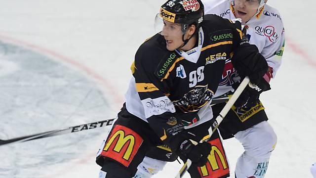 Luganos Damien Brunner zeigte seine Torgefährlichkeit im Powerplay.
