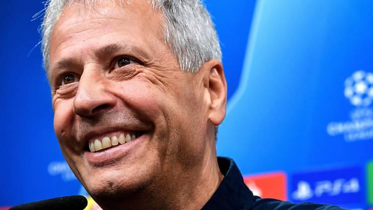 Dortmunds Trainer Lucien Favre hat derzeit gut lachen