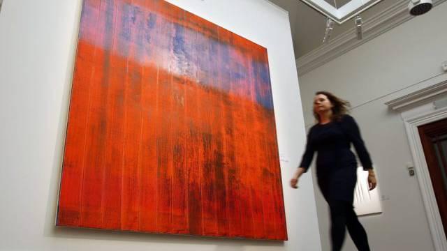 """Das Bild """"Wand"""" des deutschen Malers Gerhard Richter (Archiv)"""