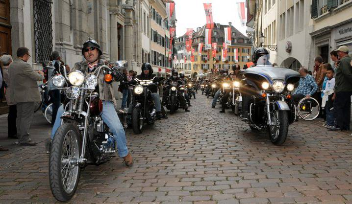 Harley-Meeting an der HESO